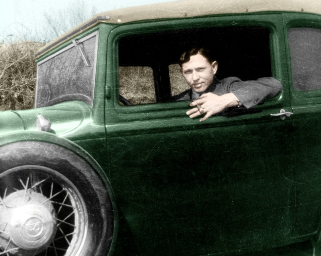 Clyde With Ford V8