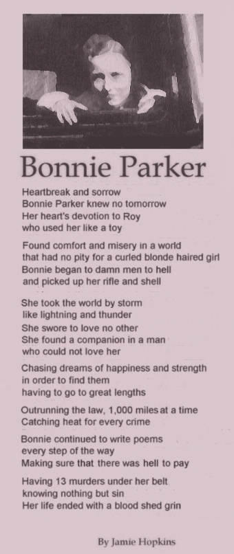 Analysis clyde bonnie story poem and the of Bonnie and